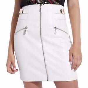 Guess Demetria  Faux Leather Buckle Mini Skirt